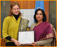 LEADERSHIP IN COMMUNITY INITIATIVES FOR A GREEN ECONOMY - UNDP AWARD (2012)